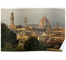 Hot Summer Afternoon in Florence, Italy Poster