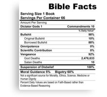Bible Facts Canvas Print