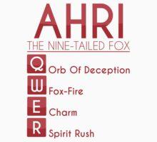 Champion Ahri Skill Set In Red by SpiritRush