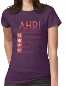 Champion Ahri Skill Set In Red Womens Fitted T-Shirt