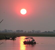 Sunset in Botswana by swanny