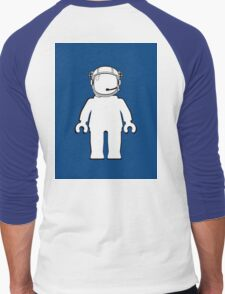 Banksy Style Astronaut Minifig, Customize My Minifig Men's Baseball ¾ T-Shirt