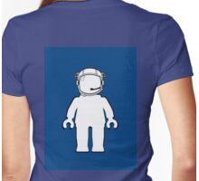 Banksy Style Astronaut Minifig, Customize My Minifig Womens Fitted T-Shirt