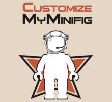 Banksy Style Astronaut Minifig and Customize My Minifig Logo by Customize My Minifig