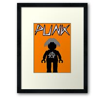 Punk Guitarist Minifig, Customize My Minifig Framed Print