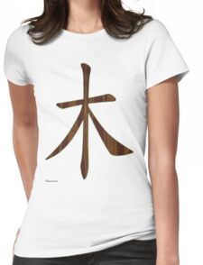Wood in Chinese   Womens Fitted T-Shirt