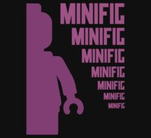 Dark Pink Minifig with MINIFIG text, Customize My Minifig by Customize My Minifig