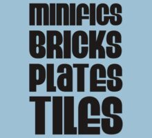 """MINIFIGS BRICKS PLATES TILES"", Customize My Minifig by Customize My Minifig"