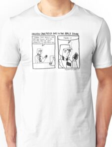 Holden Caulfield Goes To The Apple Store Unisex T-Shirt