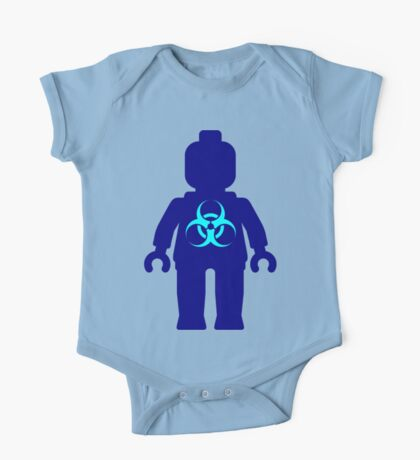 Minifig with Radioactive Symbol One Piece - Short Sleeve