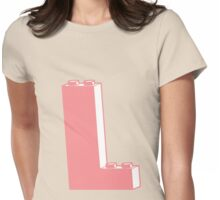 THE LETTER L, Customize My Minifig Womens Fitted T-Shirt