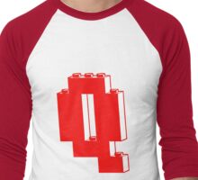 THE LETTER Q, Customize My Minifig Men's Baseball ¾ T-Shirt