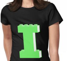 THE LETTER I, Customize My Minifig Womens Fitted T-Shirt
