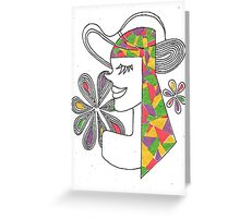 Girl and Hat Greeting Card