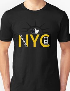 NYC icons collage New York Unisex T-Shirt