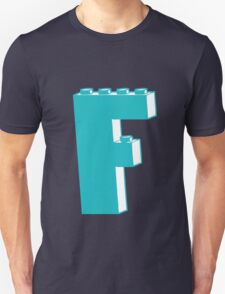 THE LETTER F, Customize My Minifig T-Shirt
