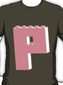THE LETTER P, Customize My Minifig T-Shirt