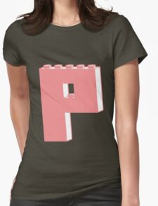 THE LETTER P, Customize My Minifig Womens Fitted T-Shirt