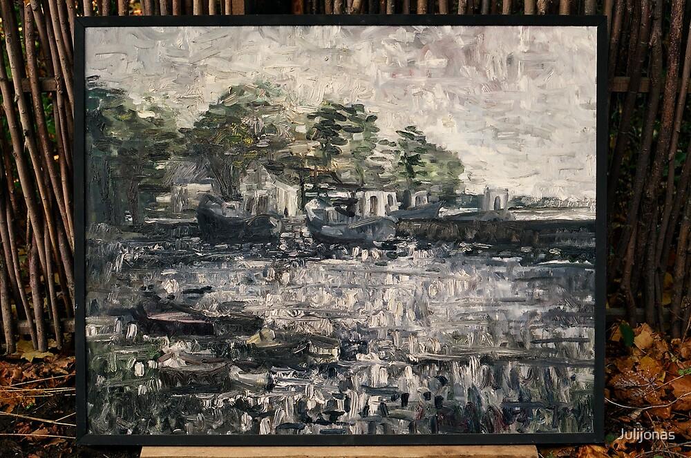 Prieplauka (The harbor) by Julijonas