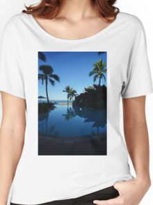Pool by the Sea- Oahu, Hawaii Women's Relaxed Fit T-Shirt