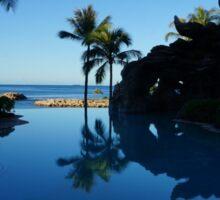 Pool by the Sea- Oahu, Hawaii Sticker