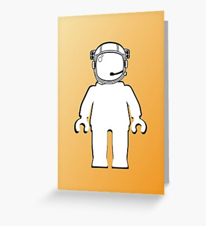 Banksy Style Astronaut Minifig, Customize My Minifig Greeting Card