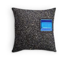 Blue Reflector Throw Pillow