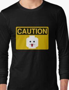 Caution Rude Minifig Head Sign Long Sleeve T-Shirt