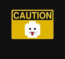 Caution Rude Minifig Head Sign T-Shirt