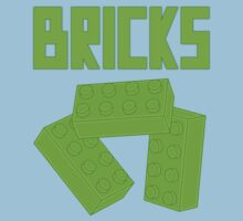 Green Bricks, Customize My Minifig One Piece - Short Sleeve