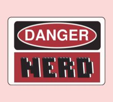 Danger Nerd Sign One Piece - Long Sleeve