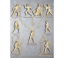 """Grappling and Dagger Positions - Fiore dei Liberi """"Getty"""" Photographic Print"""