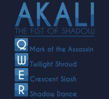 Champion Akali Skill Set In Blue by SpiritRush