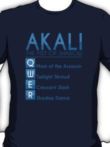 Champion Akali Skill Set In Blue T-Shirt