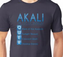 Champion Akali Skill Set In Blue Unisex T-Shirt