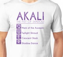 Champion Akali Skill Set In Purple Unisex T-Shirt