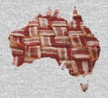 Australia - Australian Bacon Map - Woven Strips Kids Clothes