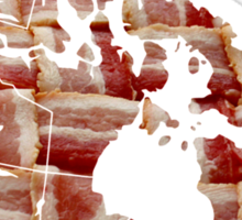 Canada - Canadian Bacon Map - Woven Strips Sticker