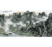 Foggy Mountains Photographic Print