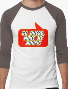 Go Ahead, Make My Minifig, Bubble-Tees.com Men's Baseball ¾ T-Shirt