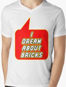 I Dream about Bricks, Bubble-Tees.com Mens V-Neck T-Shirt