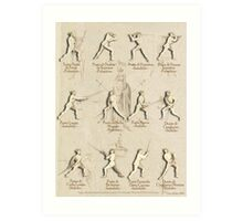 "Longsword Positions - Fiore dei Liberi ""Getty"" Art Print"