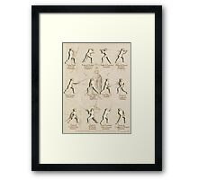 "Longsword Positions - Fiore dei Liberi ""Getty"" Framed Print"
