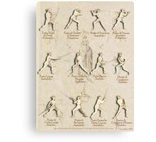 "Longsword Positions - Fiore dei Liberi ""Getty"" Canvas Print"