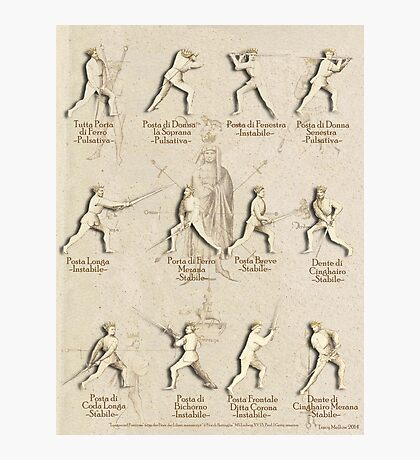 "Longsword Positions - Fiore dei Liberi ""Getty"" Photographic Print"