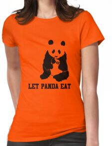 LET PANDA EAT Womens Fitted T-Shirt