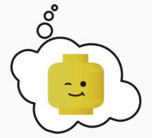 Minifig Winking Head, Bubble-Tees.com Baby Tee