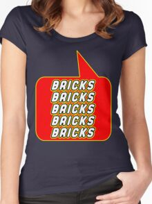 Bricks Bricks Bricks Bricks Bricks, Bubble-Tees.com Women's Fitted Scoop T-Shirt