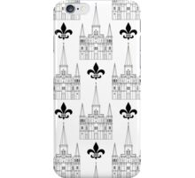 St. Louis Cathedral Pattern (Black) iPhone Case/Skin