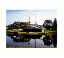 Reflection of  Old ship in Albany SW Australia  Art Print